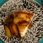 Simon Rimmer Spanish Baked Cheesecake and Nectarines recipe on Sunday Brunch