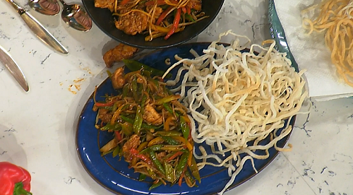 Phil Vickery chicken chow mein with rice noodles recipe on ...