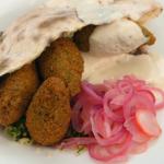 John Torode falafel with flatbread and tabbouleh salad recipe on Celebrity Masterchef