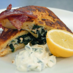 John Torode French toast pocket with crab and spinach recipe on Celebrity Masterchef 2019