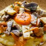 Tom Brown Smoked Haddock Mash, Wild Mushrooms and Egg Yolk recipe on Sunday Brunch