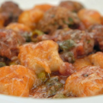 John Torode pork and beef meatballs with gnocchi in tomato sauce recipe on Celebrity Masterchef