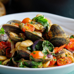 Simon Rimmer Boozy Clams with Tomato and Beans recipe on Sunday Brunch