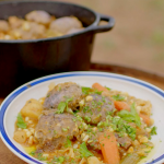 Hairy Bikers Navajo lamb stew with cornmeal dumplings recipe on Route 66