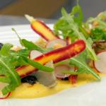 Monica Galetti braised artichoke with aquafaba and saffron mayonnaise recipe on Masterchef The Professionals
