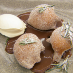 Marcus Wareing deep fried beignets with rosemary and chocolate sauce recipe on Masterchef The Professionals