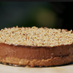 Gino D'Acampo No-bake chocolate and hazelnut cheesecake with chocolate chip cookies on Gino's Italian Express