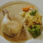 Rick Stein chicken legs stuffed with Portobello mushrooms and Comté cheese recipe on Rick Stein's Secret France
