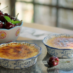 John Torode Creme Brulee with Cherries with Kirsch recipe on John and Lisa's Weekend Kitchen