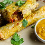 Simon Rimmer Moroccan Spiced Filo Parcels With Carrot and Rose Water Puree recipe on Sunday Brunch