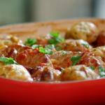 John Torode pork stew with pork chops and dumplings recipe on John and Lisa's Weekend Kitchen