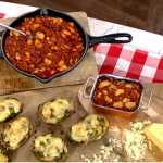 Phil Vickery bonfire night feast with twice baked jacket potatoes and beans recipe on This Morning