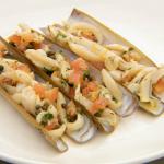 Monica Galetti razor clams with a shallot, caper and tomato sauce recipe on Masterchef The Professionals