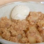 Nadia Sawalha apple crisp recipe on Nadia's Family Feasts