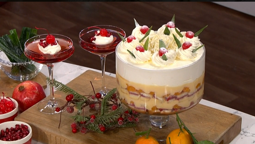Phil Vickery retro desserts with champagne jelly and ...