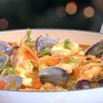 Jose Pizarro Spanish Christmas Dinner with prawns, monkfish and sherry recipe on This Morning