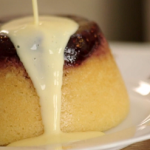 Phil Vickery steamed jam sponge pudding with custard recipe on This Morning