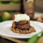 Gino D'Acampo upside down apple crumble with cinnamon and amaretto liqueur recipe on Gino's Italian Express