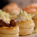 John Torode Vol Au Vents with custard, chocolate and a cocktail sauce recipe on John and Lisa's Weekend Kitchen
