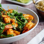 Tom Kerridge prawn and okra curry with wholegrain rice and quinoa recipe on Sunday Brunch
