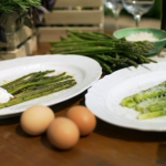 Gino D'Acampo asparagus with pecorino cheese and poached egg recipe on Gino's Italian Express