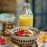 John Torode granola with honey, maple syrup and ginger recipe on John and Lisa's Weekend Kitchen