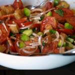 Cecilia's panzanella salad recipe on Gino's Italian Express