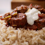 Tom Kerridge low calorie lamb bhuna curry with brown rice recipe on Lose Weight and Get Fit with Tom Kerridge