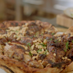 Nadia Sawalha Musakhan with roasted chicken, onions, sumac, bread and rice recipe on Nadia's Family Feasts