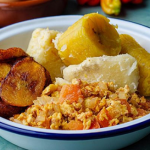Don Eazi Boiled Yam Dodo and Egg Stew recipe on Sunday Brunch