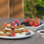 Ian and Henry's Banana French Toast with a Berry Compote recipe on Living On The Veg