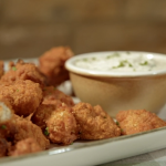 Ian and Henry's spicy cauliflower wings with ranch dressing recipe on Living On The Veg
