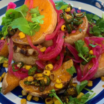Simon Rimmer Squash Wedges with Avocado Cream and Cowboy Candy recipe on Sunday Brunch