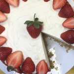 Phil Vickery light strawberry cheesecake with cream cheese and rich tea biscuits recipe on This Morning