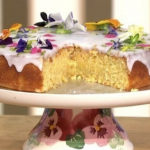 Maimie McCoy lemon frosted almond cake recipe on This Morning