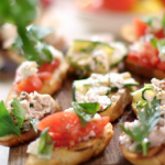 John Torode and Lisa Faulkner bruschetta recipe on John and Lisa's Weekend Kitchen
