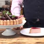 James Martin cherry and chocolate mousse (Charlotte Russe) recipe on This Morning