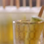 Lisa Faulkner pineapple and mint lollies with lime juice recipe on John and Lisa's Weekend Kitchen