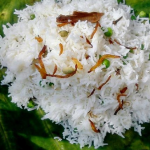Asma Khan Mattar Pulao rice, peas and onions recipe on Sunday Brunch