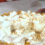 Nadiya's orange and lemongrass meringue pie recipe on This Morning