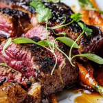 Simon Rimmer Texas Roadhouse Steak with Bourbon Carrots recipe on Sunday Brunch