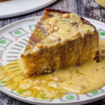 Simon Rimmer Upside Down Banana Sponge with Custard recipe on Sunday Brunch