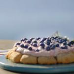 Nadiya Hussain blueberry and lavender scone pizza with clotted cream and blueberry jam recipe on Nadiya Bakes