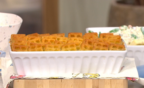 Phil Vickery frozen fish pie with potato waffles recipe on ...