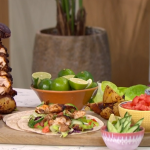 Alison Hammond guilt-free chicken thigh kebabs with honey and a avocado smash recipe on This Morning