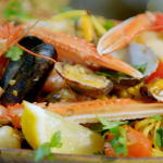 Ainsley Harriott spicy seafood linguine with cherry tomatoes recipe on Ainsley's Food We Love
