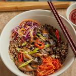 Judy Joo Grilled Chicken with Cauliflower, Quinoa and Broccoli Rice Bowl recipe on Sunday Brunch