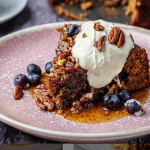 Simon Rimmer apple and blueberry cake with maple syrup recipe on Sunday Brunch