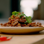 Jeremy Pang crispy chilli beef with black rice vinegar recipe on Ainsley's Food We Love