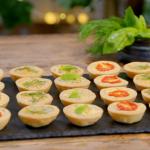 Ainsley Harriott savoury mini afternoon tea tartlets recipe on Ainsley's Food We Love